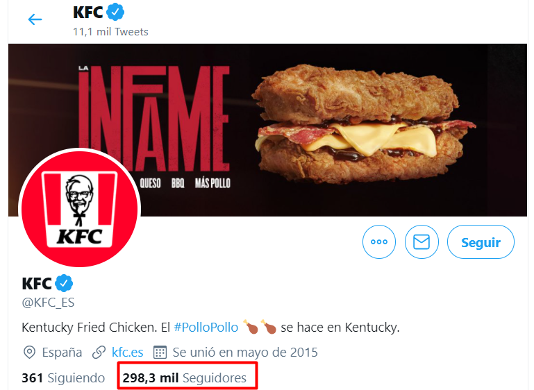 KFC y marketing digital en RRSS